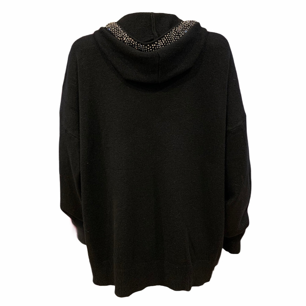 Load image into Gallery viewer, Diamante Knit Hoodie -  Luna Boutiques