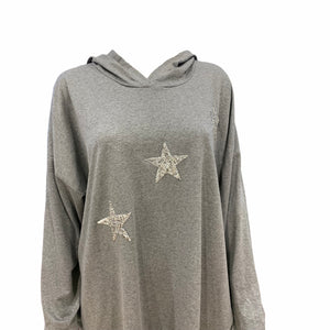 Three Star Zip & Hoodie Tunic Top -  Luna Boutiques