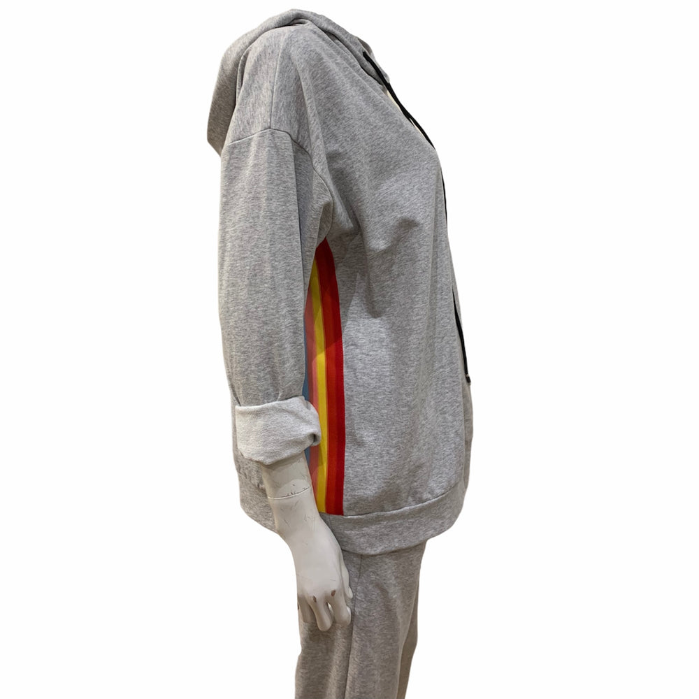 Load image into Gallery viewer, Rainbow One Side Stripe Tracksuit -  Luna Boutiques