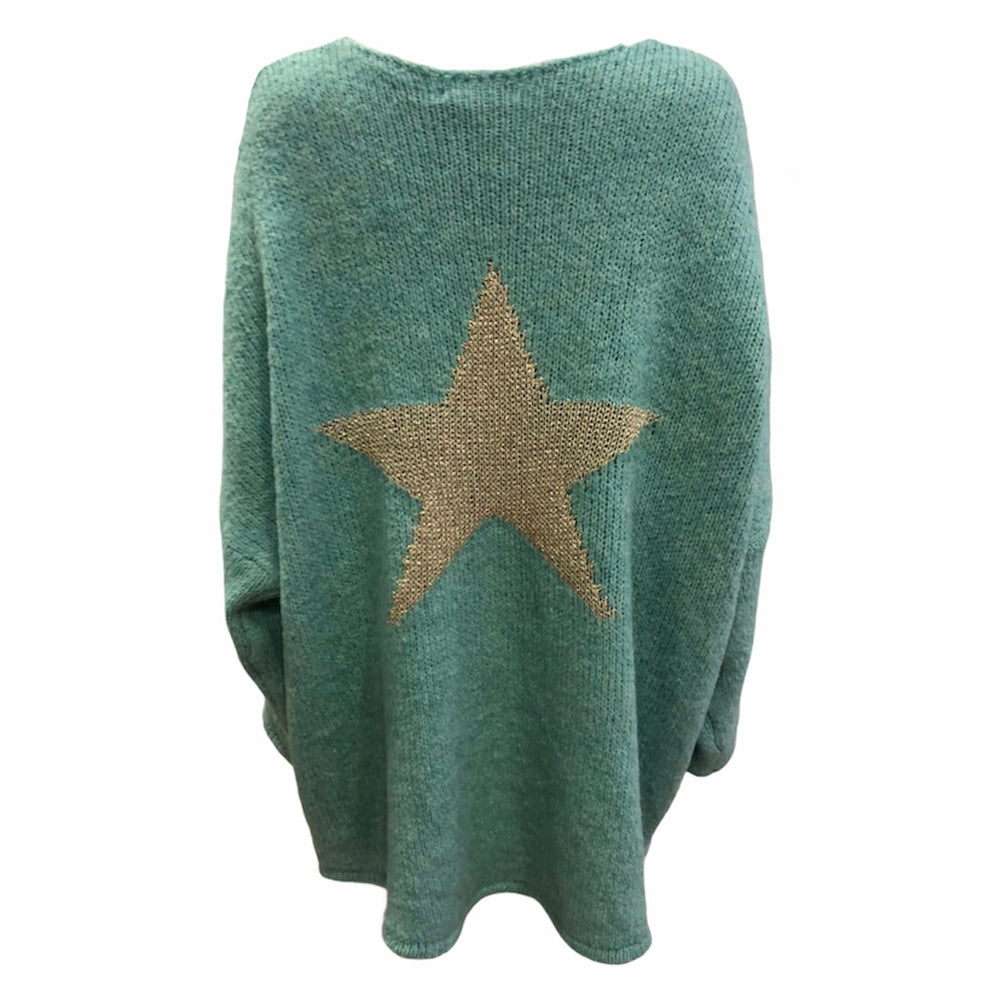 Loose Fit Star Back Jumper -  Luna Boutiques
