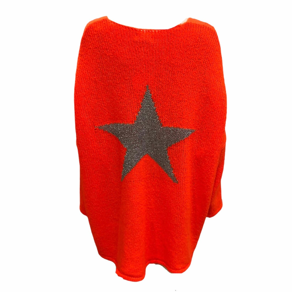 Load image into Gallery viewer, Loose Fit Star Back Jumper -  Luna Boutiques