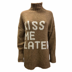 Load image into Gallery viewer, 'KISS ME LATER' Roll Neck Jumper -  Luna Boutiques