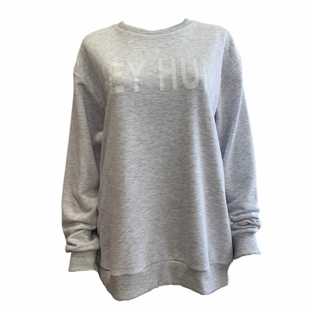 Load image into Gallery viewer, 'Hey Hun' Sweatshirt Jumper -  Luna Boutiques