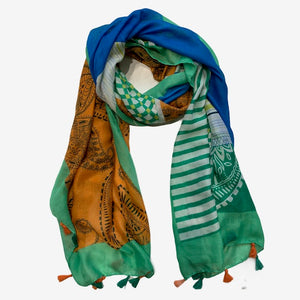 Load image into Gallery viewer, Paisley Print Scarf -  Luna Boutiques