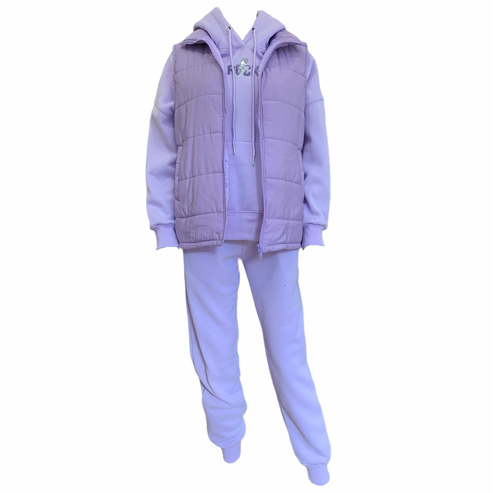 Load image into Gallery viewer, ROCK Tracksuit Set With Gilet -  Luna Boutiques