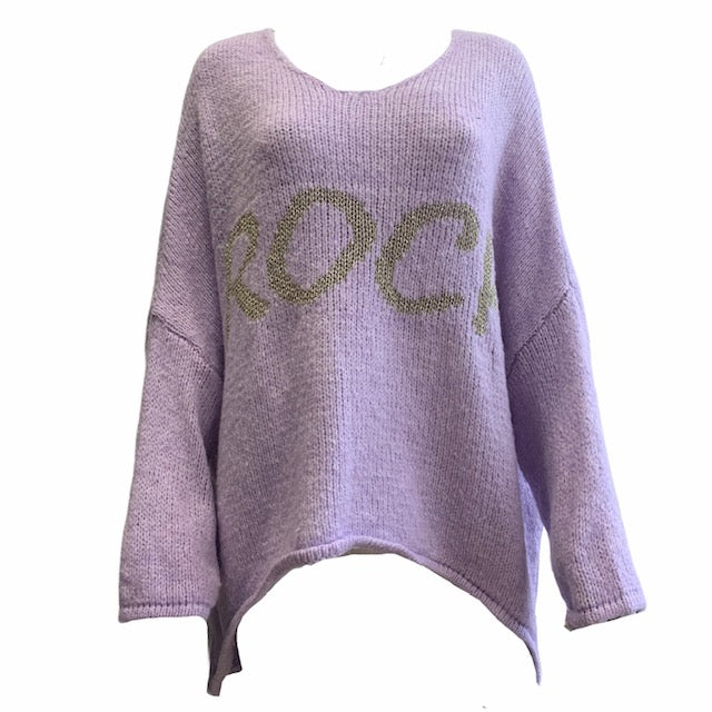 Chunky Knit With Silver Sparkle 'Rock' Jumper -  Luna Boutiques