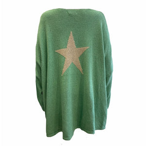 Loose Fit Star Back Knit -  Luna Boutiques
