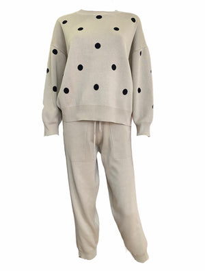 Luxurious Quality Polka Dot Tracksuit -  Luna Boutiques