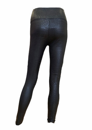 Load image into Gallery viewer, Faux Leather Snake Print Leggings -  Luna Boutiques