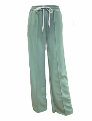 Load image into Gallery viewer, Palazzo Drawstring Waist Stripe Trousers -  Luna Boutiques