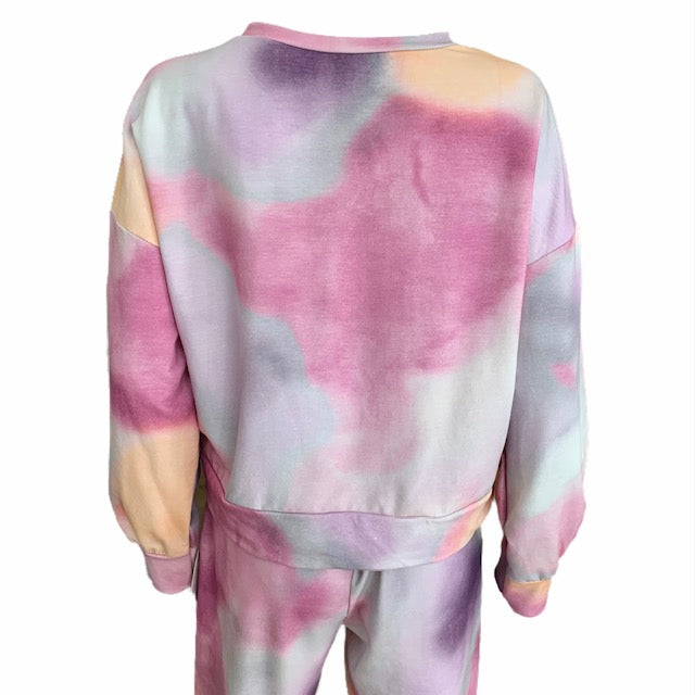 Load image into Gallery viewer, Tie Dye Sweatshirt & Jogger Set -  Luna Boutiques