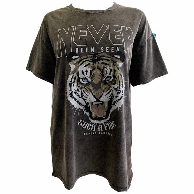 'Never Been Seen' Tiger T-Shirt -  Luna Boutiques