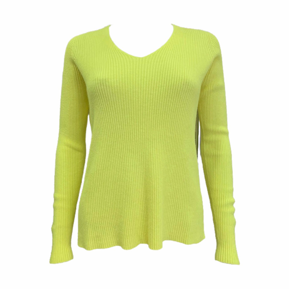 Load image into Gallery viewer, Ribbed V Neck Long Sleeve Top -  Luna Boutiques