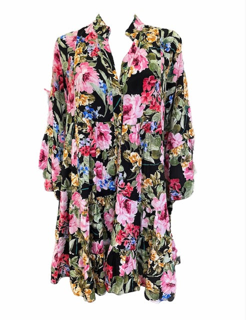 Load image into Gallery viewer, Floral Loose Tunic Dress -  Luna Boutiques