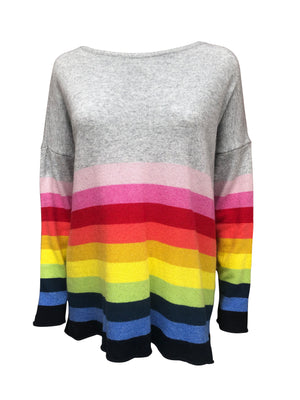 Load image into Gallery viewer, Rainbow Stripe Cashmere Jumper -  Luna Boutiques