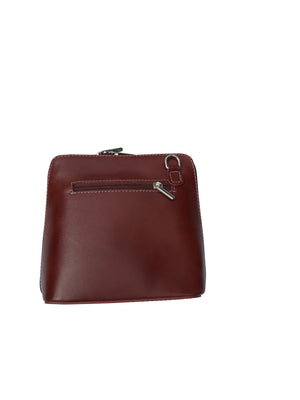 Vera Pelle Leather Over Shoulder Bag -  Luna Boutiques
