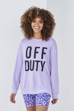 Load image into Gallery viewer, Off Duty Sweatshirt -  Luna Boutiques