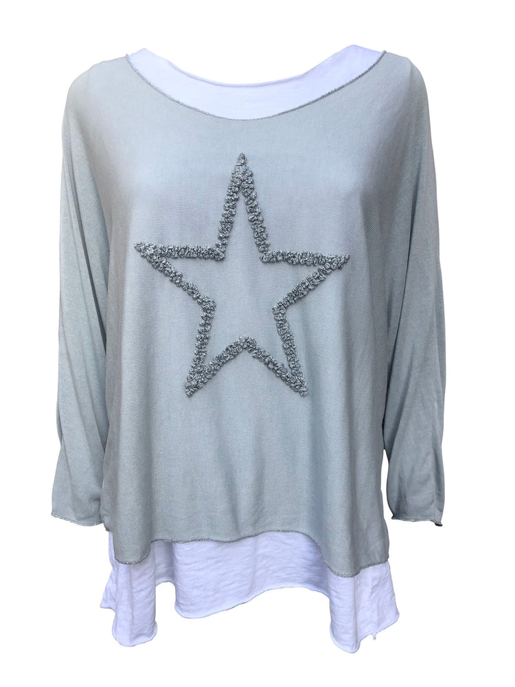 Double Layer Star Top -  Luna Boutiques