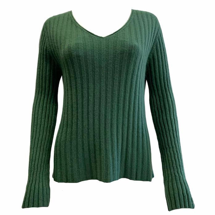 Load image into Gallery viewer, Ribbed Flare Sleeve V Neck Top -  Luna Boutiques