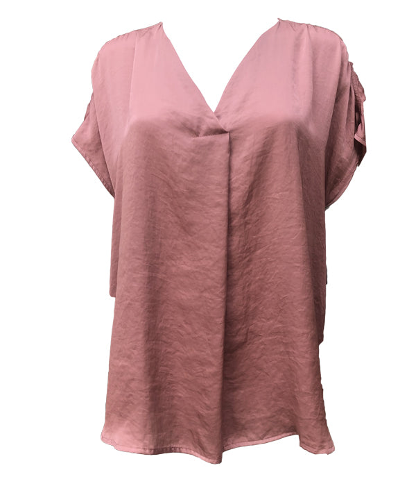 Que V Neck Silk Feel Top -  Luna Boutiques