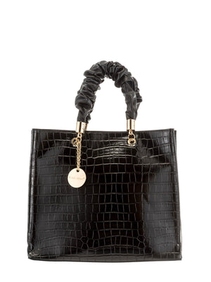 Load image into Gallery viewer, Structured Handbag With Ruched Handles -  Luna Boutiques