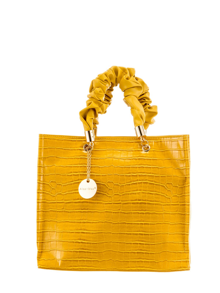 Structured Handbag With Ruched Handles -  Luna Boutiques