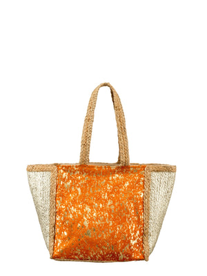 Load image into Gallery viewer, Metallic & Pony Hair Large Bag -  Luna Boutiques
