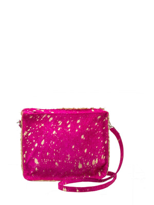 Load image into Gallery viewer, Metallic & Pony Hair Crossbody Bag -  Luna Boutiques