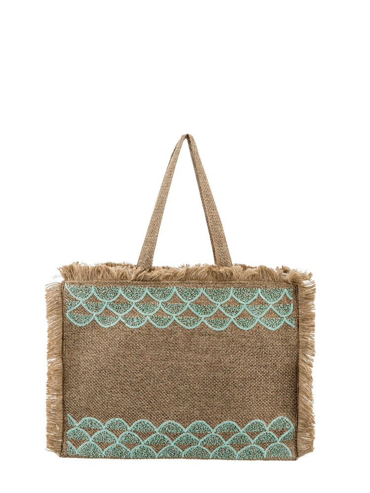 Beaded Detail Fringed Shoulder Bag -  Luna Boutiques