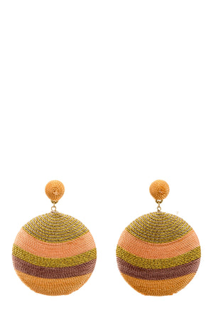 Stripe Disk Drop Earrings -  Luna Boutiques