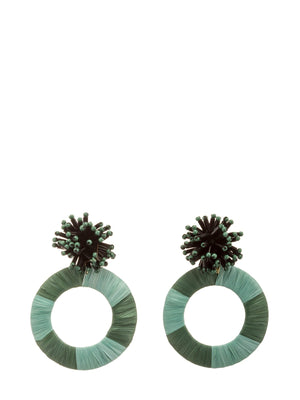 Load image into Gallery viewer, Beaded Stud Earrings With Hoop -  Luna Boutiques
