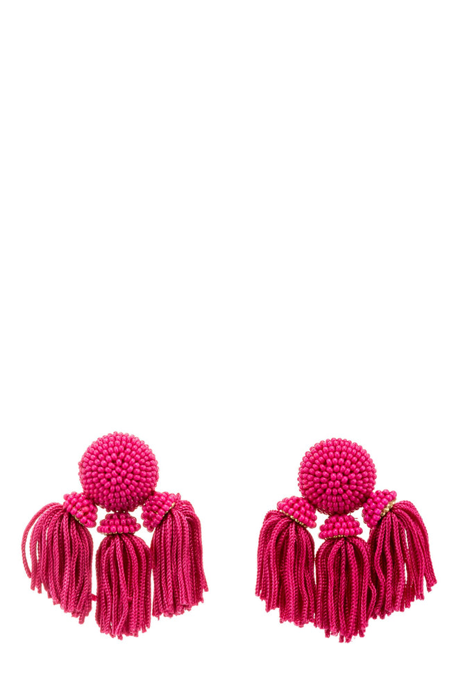 Load image into Gallery viewer, Beaded Three Tassel Earrings -  Luna Boutiques