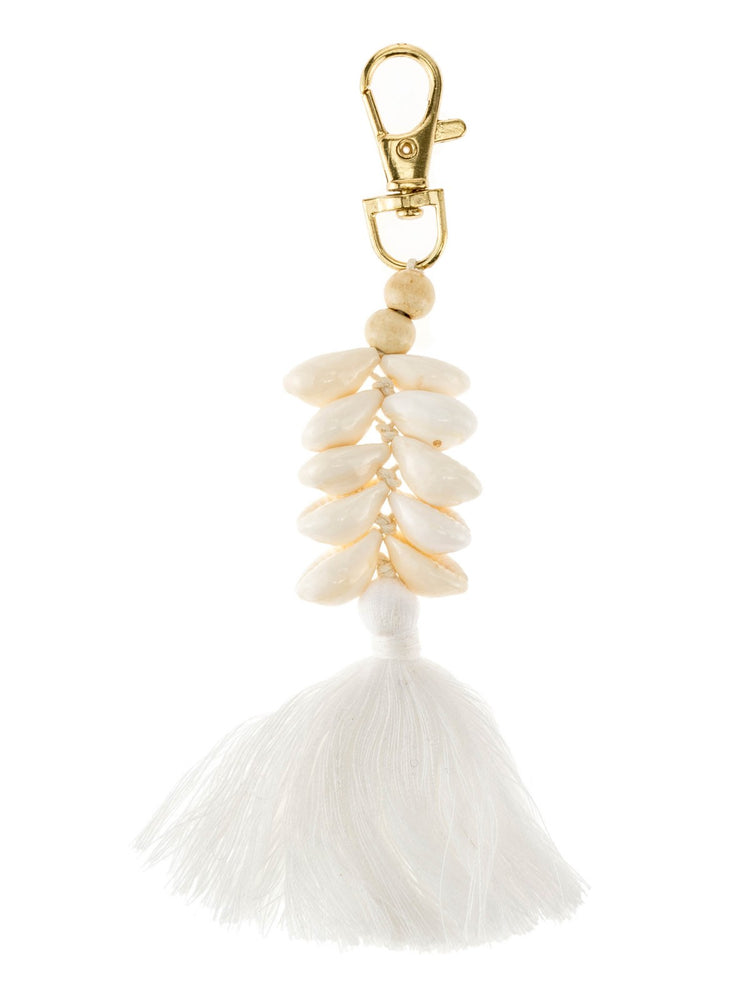 Beaded Shell & Tassel Keyrings -  Luna Boutiques