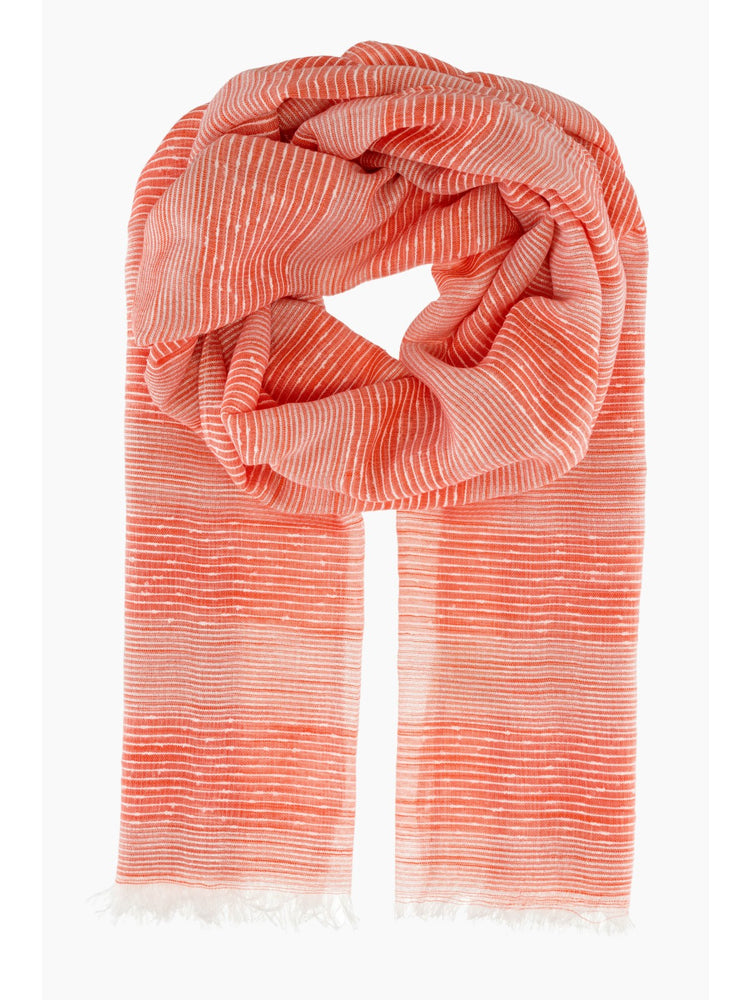Silver Thread Pinstripe Scarf with raw edging -  Luna Boutiques