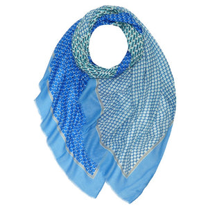 Dots and Stripe Scarf -  Luna Boutiques