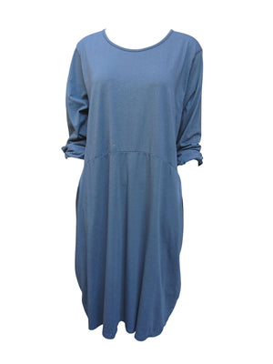 Two pocket 3/4 sleeve dress -  Luna Boutiques