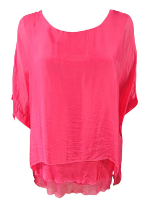 Silk Double Layer Top -  Luna Boutiques