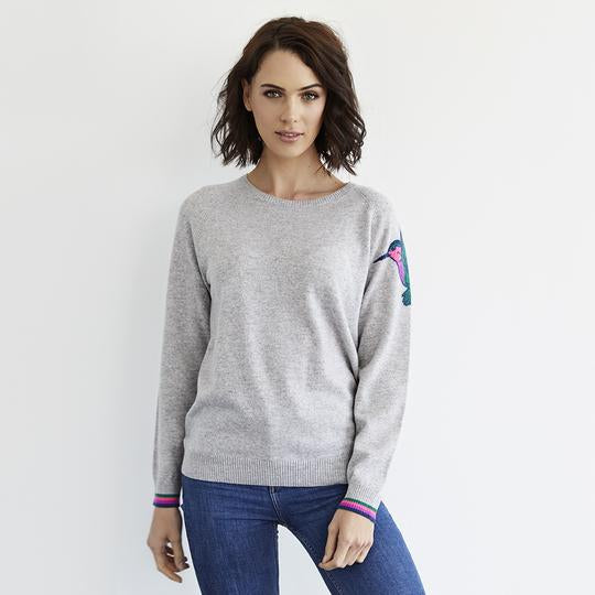 Load image into Gallery viewer, Hummingbird Cashmere Jumper -  Luna Boutiques