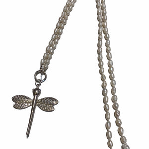 Pearl Dragonfly Necklace -  Luna Boutiques