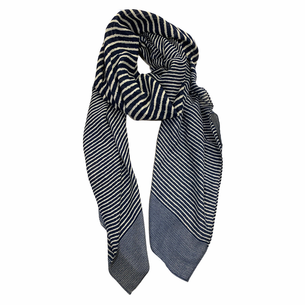 Load image into Gallery viewer, Contrasting Stripe Scarf -  Luna Boutiques
