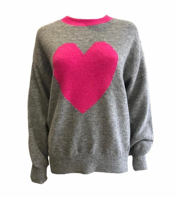 Load image into Gallery viewer, Soft Knit Heart Jumper -  Luna Boutiques