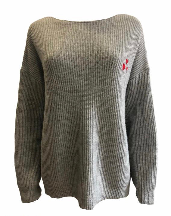 Ribbed Jumper With Embossed Hearts -  Luna Boutiques