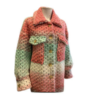 Load image into Gallery viewer, Pastel Knitted Coat -  Luna Boutiques