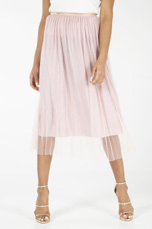 Load image into Gallery viewer, Net Metallic Midi Skirt -  Luna Boutiques