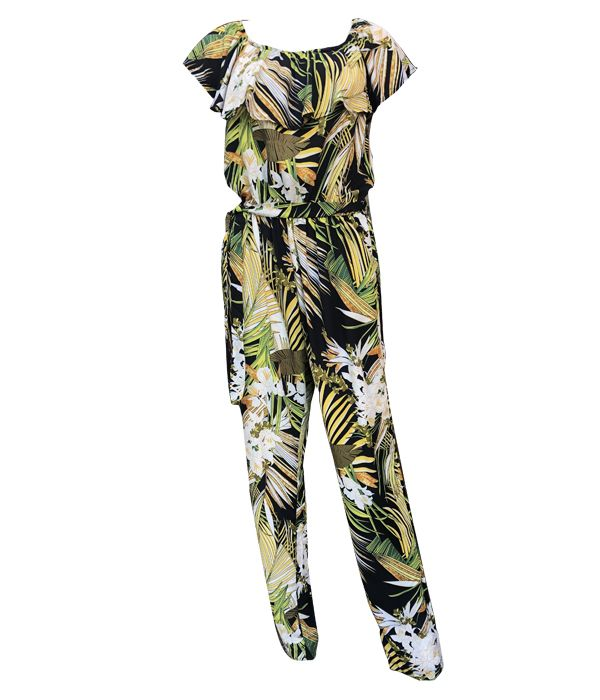 Load image into Gallery viewer, Print Jumpsuit with tie waist -  Luna Boutiques