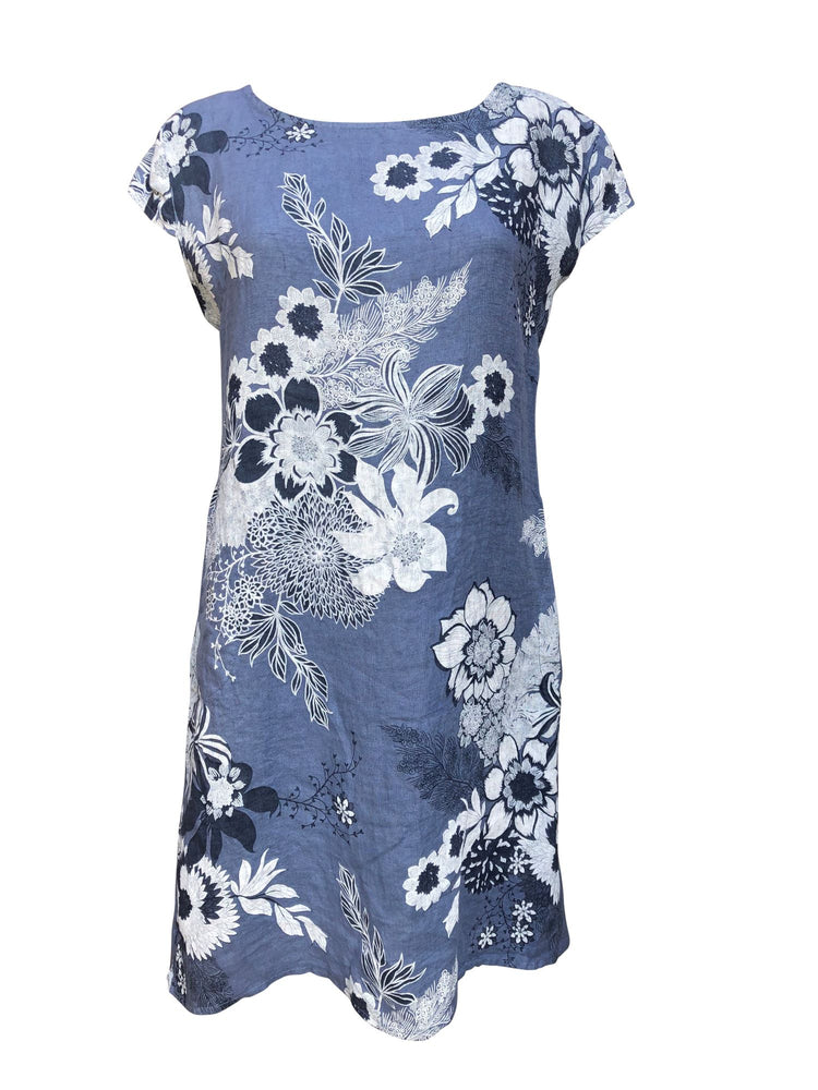 Load image into Gallery viewer, Flower Linen Dress -  Luna Boutiques