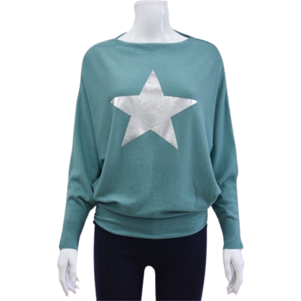 Load image into Gallery viewer, Star Batwing Jumpers -  Luna Boutiques
