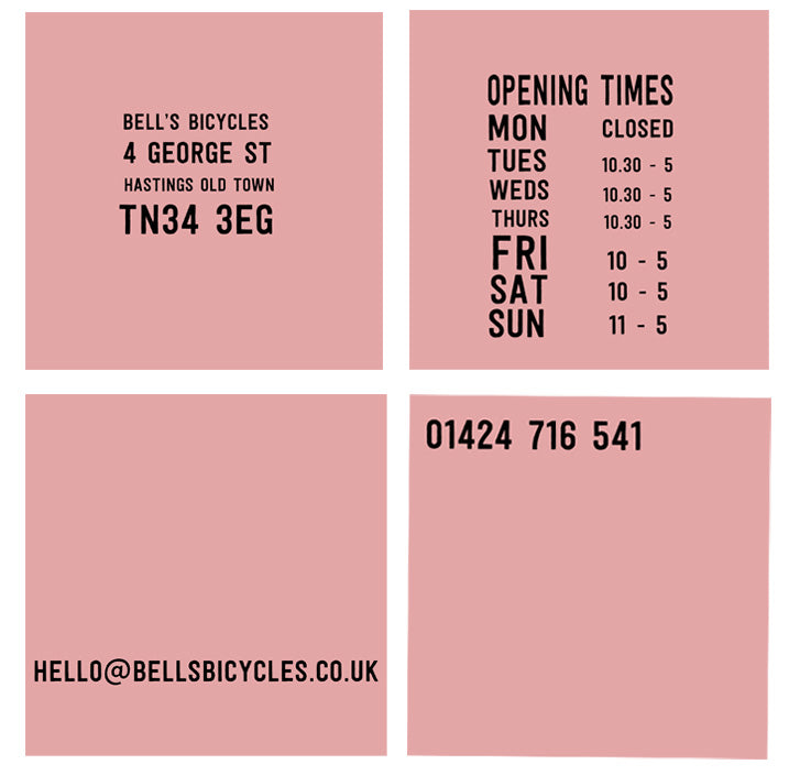 bells bicycles opening times