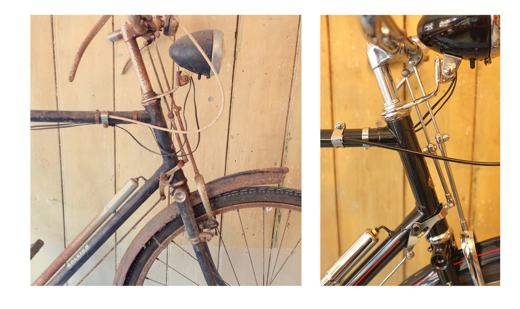 vintage bike restoration at bells bicycles