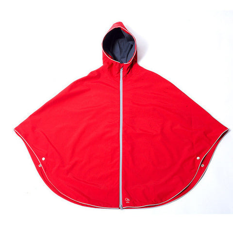 otto london urban kids poncho bright red rain cape